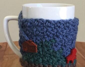 Adirondack Chair and Cabin Cozy Mug Sweater | Coffee | Tea | Cocoa | Cider