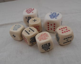 A set of vintage dice