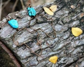Africa Earrings - Turquoise Dream