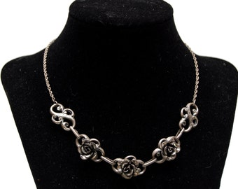 Dainty Sterling Rose Necklace