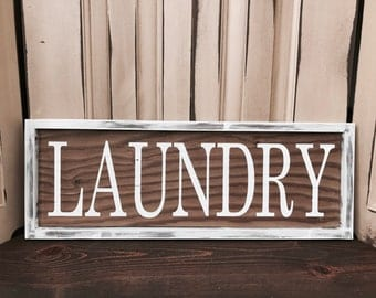 Laundry Room Sign - Laundry Room Decor - Laundry Sign - Rustic Signs for House- Farmhouse Decor - Farmhouse Style- Rustic Housewarming Gift