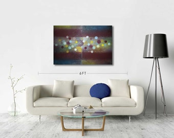 Abstract Painting Large Wall Art Decor Mixed Media Acrylic Painting on Canvas, Toronto
