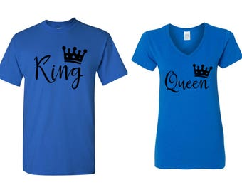 King and Queen Matching Shirts~ Mom and Dad Shirts... 2 for 1 Price. Couple Shirts_ King and Queen