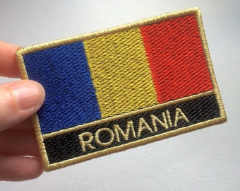 Romania Flag Embroidered Patch