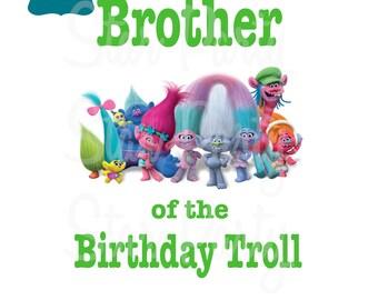 Instant Download, Digital File, Brother, Birthday, Digital Image, DIY shirt Printable Iron On Transfer Sticker, Birthday Shirt image