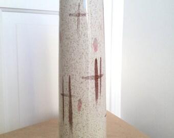 Vintage Mid Century Tall Studio Pottery Vase Abstract