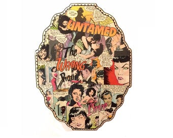 Untamed Love Collage Wall Art - Comic Art - Comic Book Art - Pin Up Art - Mixed Media And Collage - Retro Art - Vintage Art