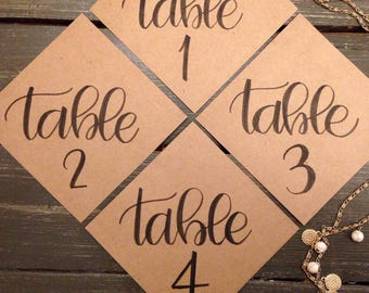 Handlettered Table Cards