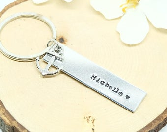 Personalize Keychain, ANCHOR Keychain, Customize.  -  Nautical, Couple Keychain, Best friend gift, - Group Gift Idea- Student Gift