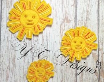 Fun Sun Feltie Happy Little Fun Sun Feltie Embroidery File
