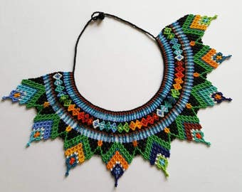 Vintage Multicoloured Beaded Necklace