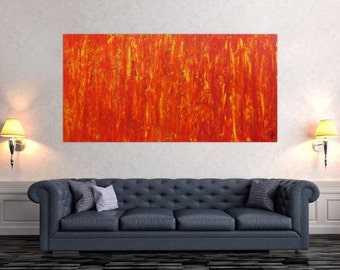 Original abstract artwork on canvas ready to hang 90x180cm #621
