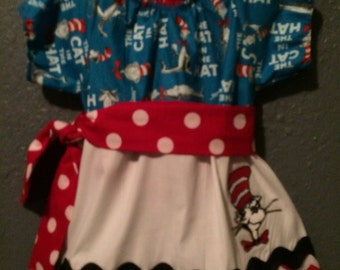 Cat and the hat themed party dress