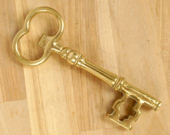 brass key bottle opener could be used as home decor wall hanging - Key Bottle Opener