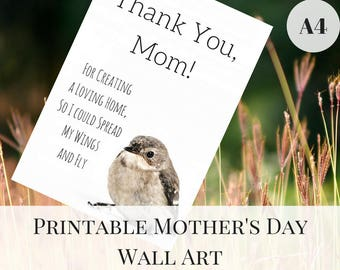 Mother's Day Gift, Printable Wall Art, Mother's Day Printable, A4 Prints, Mother's Day from Daughter, Mother's Day Quotes
