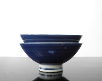 Set of 2 rice bowls / Japan / Vintage