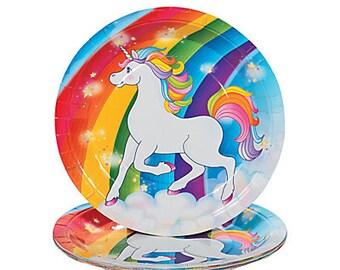 My Magical Unicorn Dinner plates / unicorn Party theme / Unicorn  / Unicorn Party/ party plates