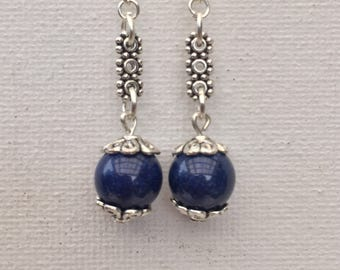 Blue Lapis Lazuli bead Earrings