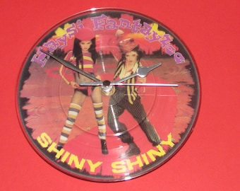"Haysi Fantayzee shiny shiny  7"" picture disc record clock"