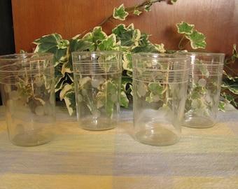 Vintage polka dot juice glasses (4)