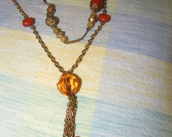 Vintage two strand beaded necklace