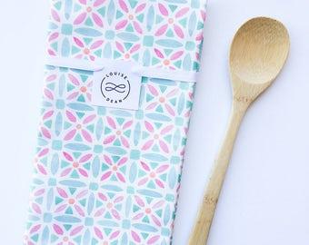 SALE: Evelyn Watercolor Geometric Tea Towel by Louise Dean
