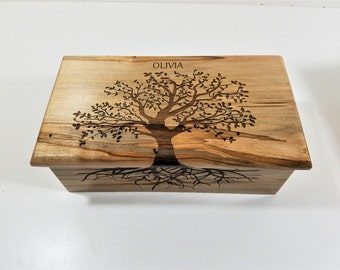Personalized Tree of Life Custom Memory, Laser Engraved Keepsake Box, Sentimental Gift, Tree of Life Memory Box