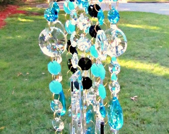 Crystal Wind Chime,  Sun Catcher,  House Warming Gift, Garden Accent, Patio Décor,   Crystal Gift, Birthday Gift, Garden Decor,  MWC141NO