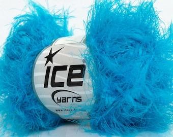 Yarn Sale, 400 gr Turquoise Eyelash Yarn, Novelty Yarn, Scarf Bulky Knitting Yarn, Crochet  Chunky Yarn, Art Yarn, Lot Sale Craft Supplies
