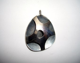 Henry Steig Mid Century Modern Sterling Silver Abstract Pendant Vintage