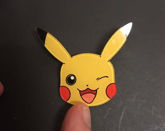 Pikachu Pokemon catch retro gamer 90s geek brooch