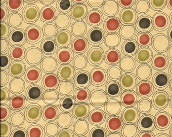 New Yellow with Red, Black, and Green Dots 100% cotton fabric by the Fat Quarter