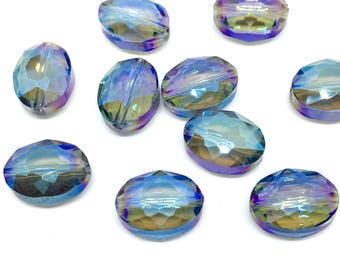 10 crystal beads, 9 x 12 mm