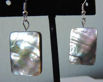 Abalone Rectangle Earrings,