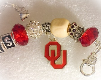 University of Oklahoma Sooners jewelry bracelets body Bling.