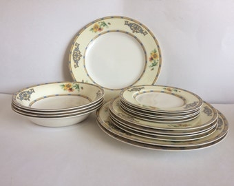 Vintage J.G. Meakin England The Margate Patterm 16 Piece Dinnerware Set - Rare