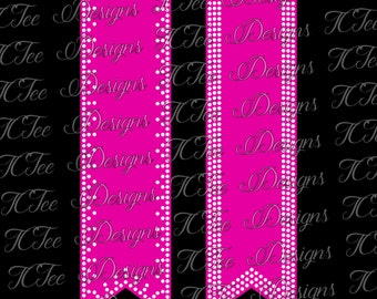 Cheer Bow Triple Outline - Rhinestone Template Download - SVG