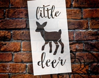 Little Deer - Fawn - Word Art Stencil - Select Size - STCL1758 - by StudioR12