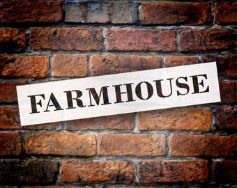 Farmhouse - Country Serif - Word Stencil - Select Size - STCL1969 - by StudioR12