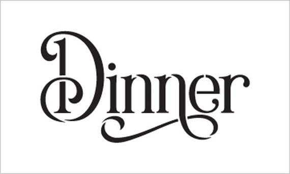 Wedding Sign Word Dinner Elegant Traditional Select