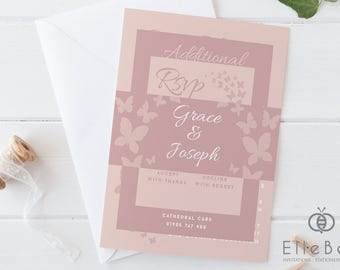 blush wedding invite  etsy, invitation samples