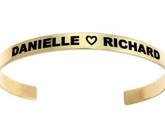 Brass Customizable Cuff Bracelet