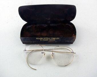 Antique Accessories Antique Glasses Antique Eyeglasses Antique Spectacles Eyeglasses Hipster Style 12K GF Gold Fill Eyeglasses Wire Frames
