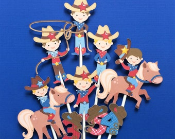 Cowboy cupcake toppers, cowboy birthday cupcake toppers, cowboy party, birthday party cowboy, cowboy theme, cowboy cake toppers , cowboys
