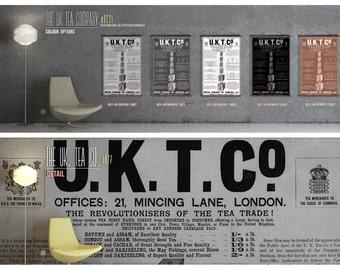 The UK Tea Company Print - On Archival Canvas