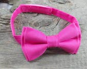 Hot Pink Bow Tie, Toddler bow tie, baby bow tie,