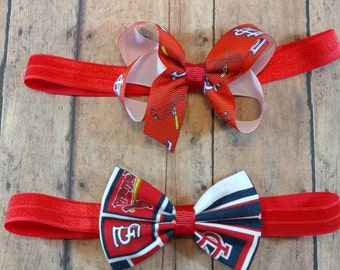 Cardinals  Headbands/ Baby sports headband / STL Cardinals / St Louis headband / Baseball Headband / St Louis baseball Headband/ Birds bow