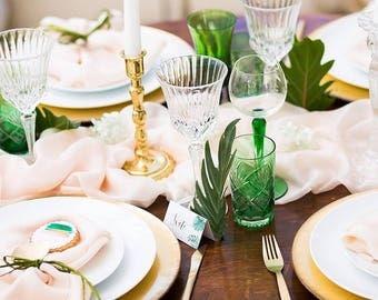 Blush sheer silk table runner, bridal sash , hand-dyed sheer silk fabric , bridal  bouquet, pink silk, blush silk, powder pink, styling silk