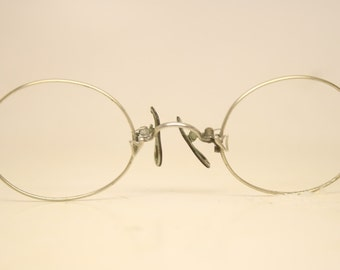 Antique Oval  Hard Bridge Pince Nez Eyeglasses