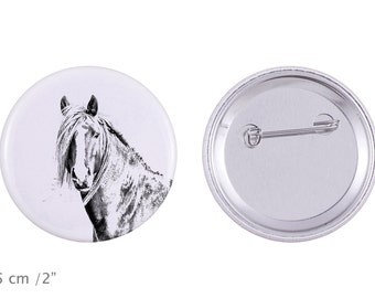 Buttons with a horse -Canadian horse
